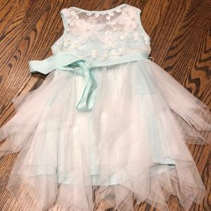 Girls sea green cocktail dress